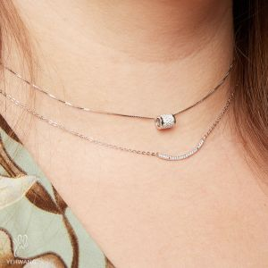 Necklace Tiny Silver Line