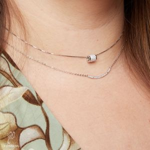 Necklace Tiny Silver Tube