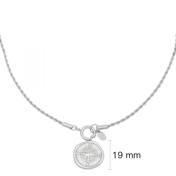 Necklace compass