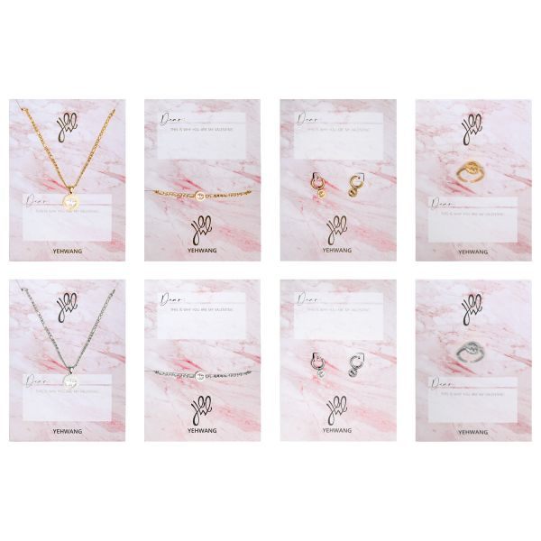 Display jewelry set heartbeat