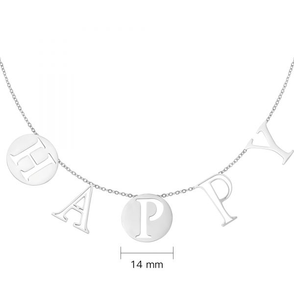 Necklace letters happy
