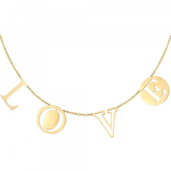 Necklace Letters Love