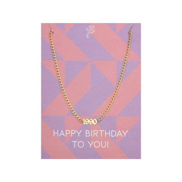 Ketting happy year of birth - 1990
