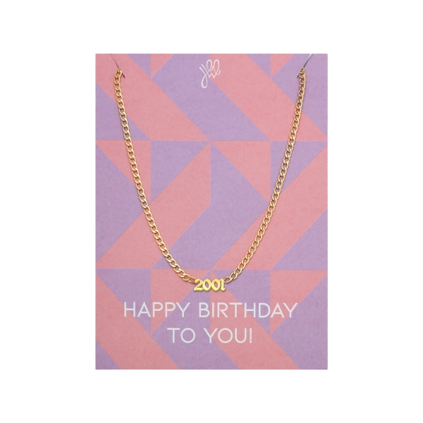 Collier Happy Year Of Birth - 2001