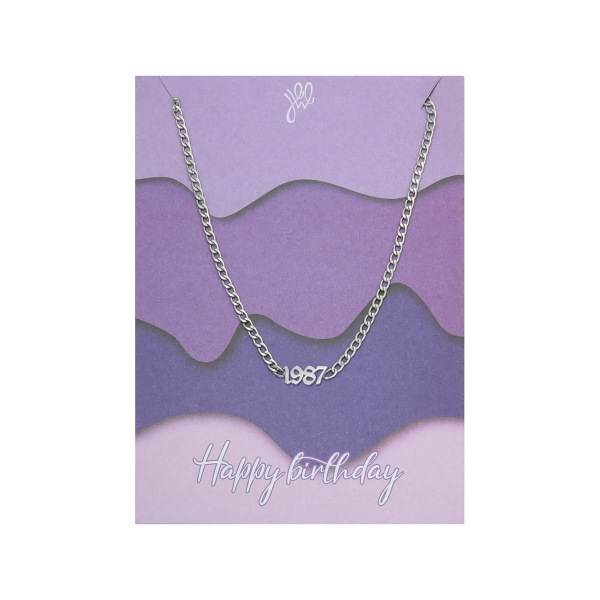 Necklace Happy Birthday Years - 1987