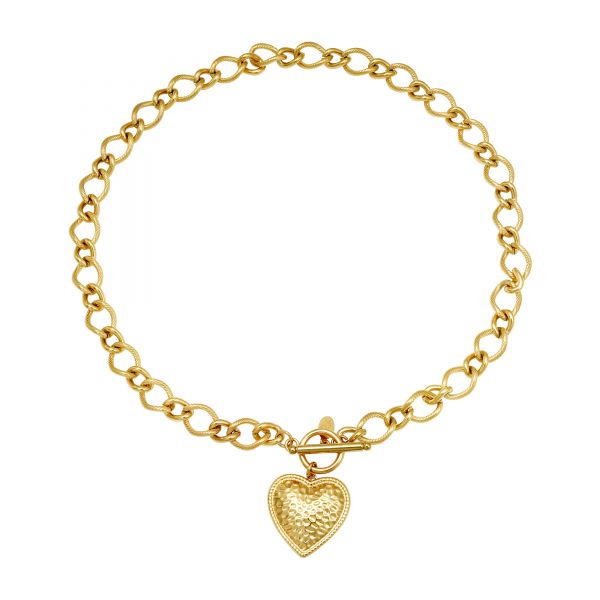 Collar heart of gold