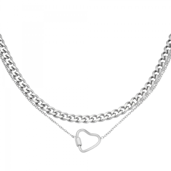 Necklace chained heart