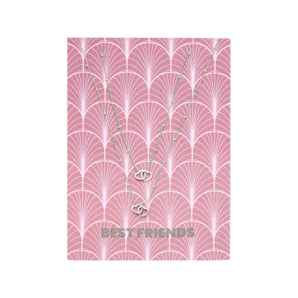 Necklace card best friends