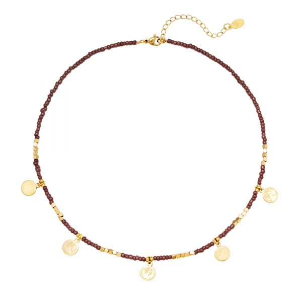 Collier Beads And Coins