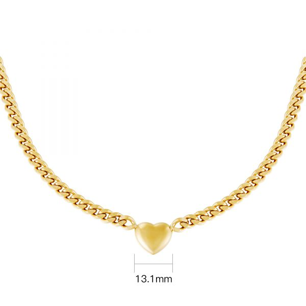 Collier chained heart