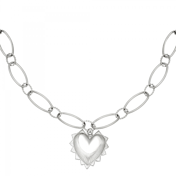 Collar big chunky heart