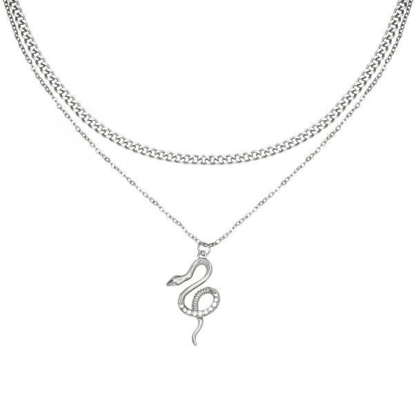 Necklace chained snake