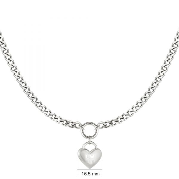Ketting A Heart Full Of Love Zilver