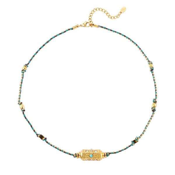 Necklace bullet bead turqouise