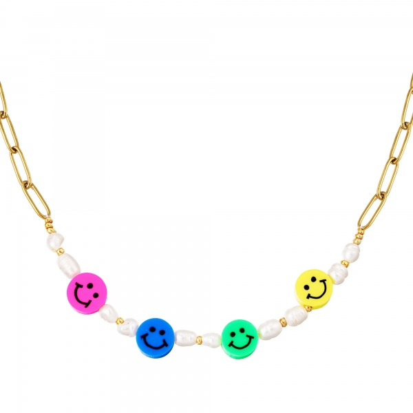 Collar de acero inoxidable smilies