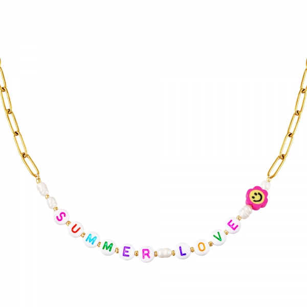 Edelstalen ketting Summer Love