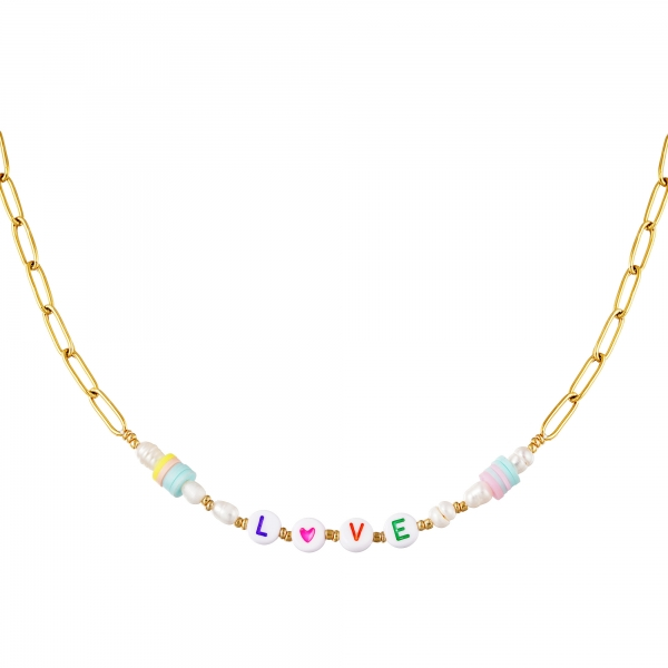 Collar de acero inoxidable love
