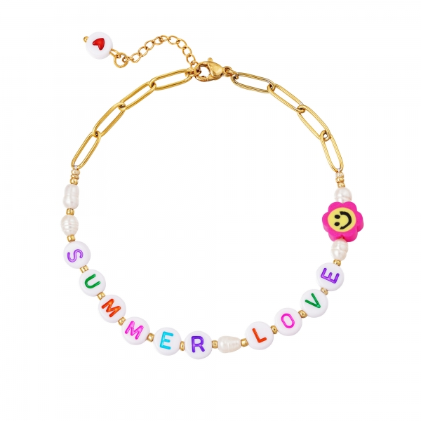 Stainless steel anklet summer love