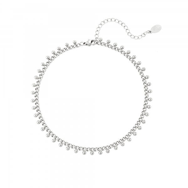 Stainless steel anklet dots