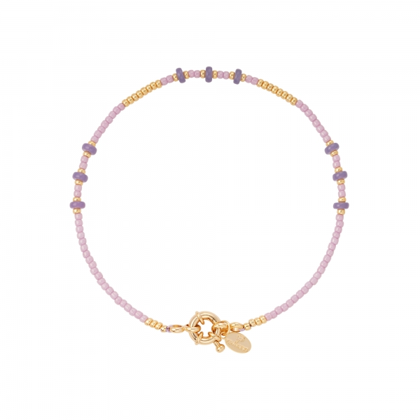 Anklet colored beads