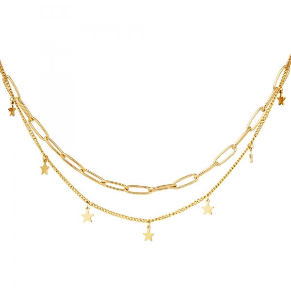 Collar cadena estrella oro