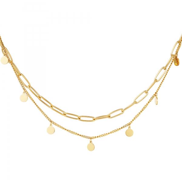 Collar cadena círculo oro