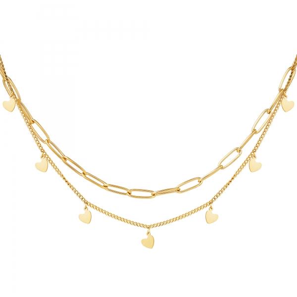 Halskette kette mein herz gold