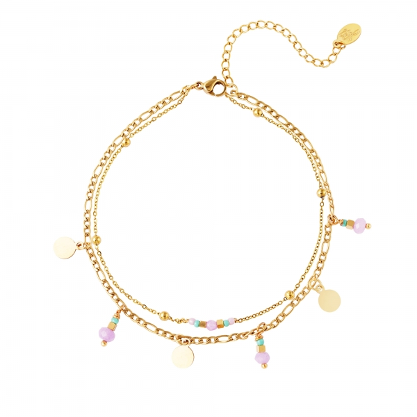 Double layered anklet