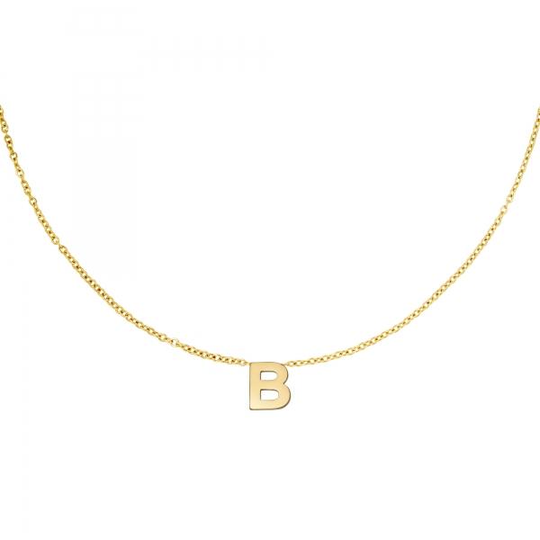 Collier en acier inoxydable initiale B