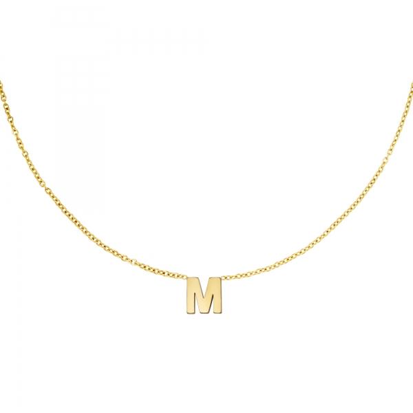 Edelstahlkette initiale m