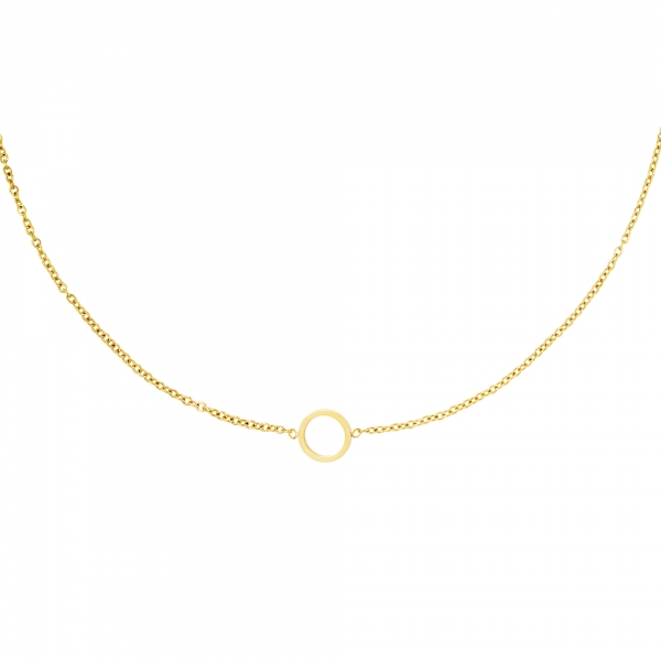 Collar minimalista círculo abierto