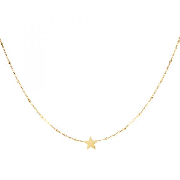 Estrella de collar de acero inoxidable