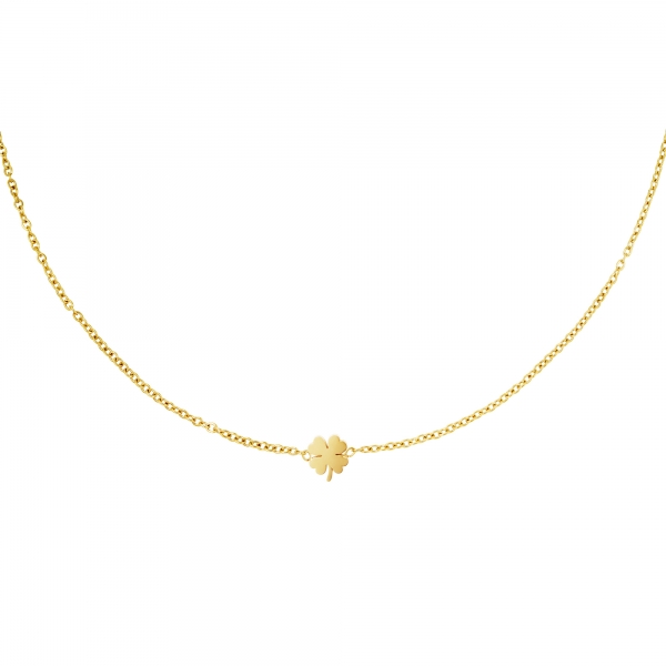 Stainless steel necklace clover