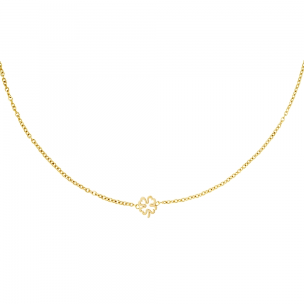 Necklace open clover