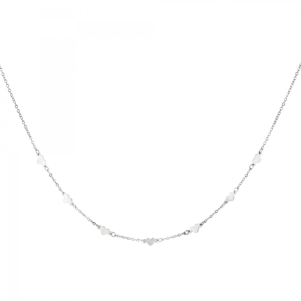 Stainless steel necklace heart