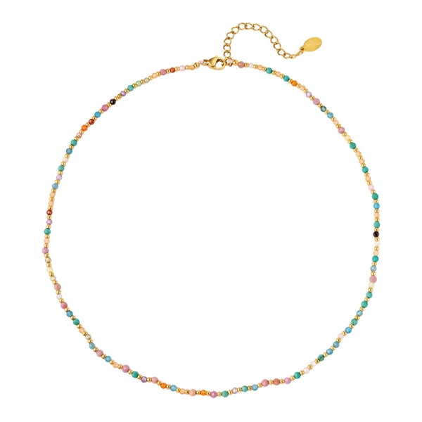 Necklace colored stone beads