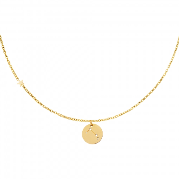 Necklace zodiac sign aries