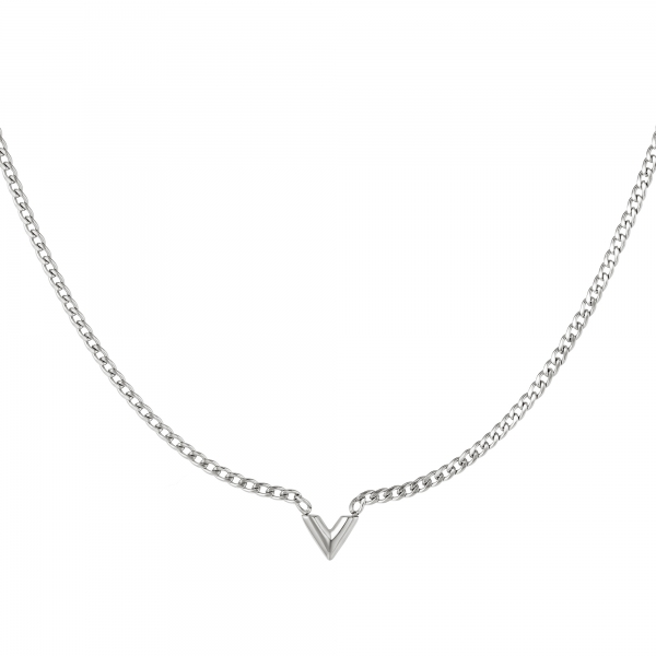 Stainless Steel Necklace Letter V