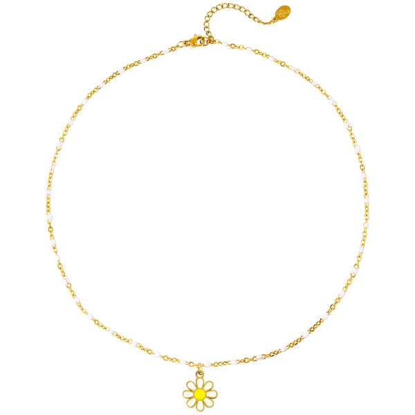 Stainless steel necklace daisy