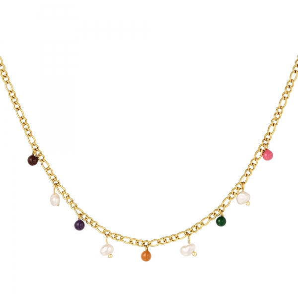Necklace colored charms