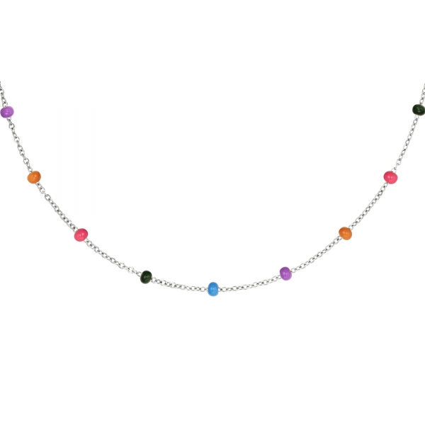 Stainless steel necklace joyful colored
