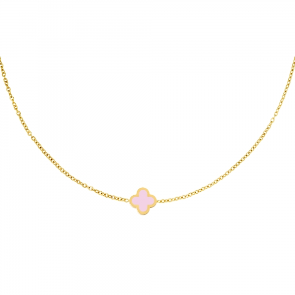 Necklace colored clover