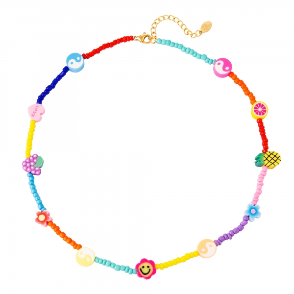 Necklace coloured beads