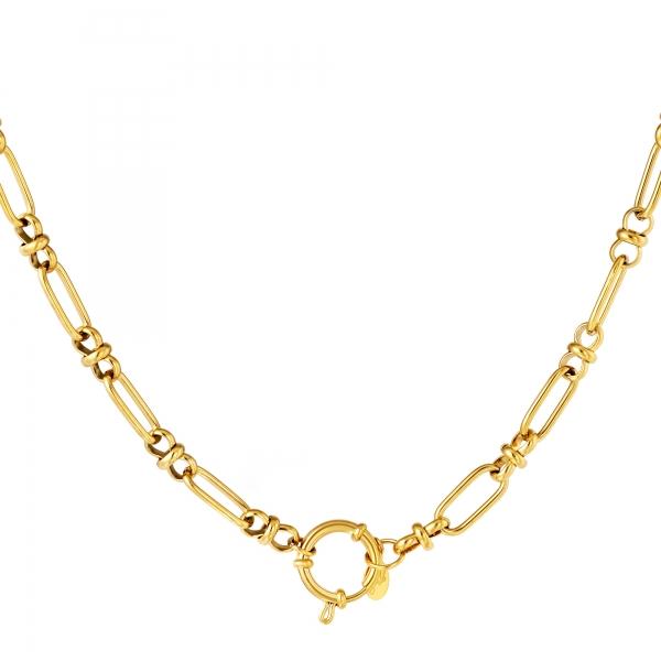 Round closure necklace