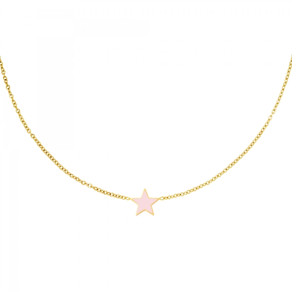 Stainless steel necklace star