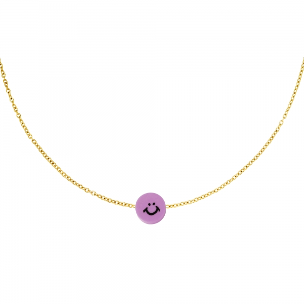 Stainless steel necklace smiley