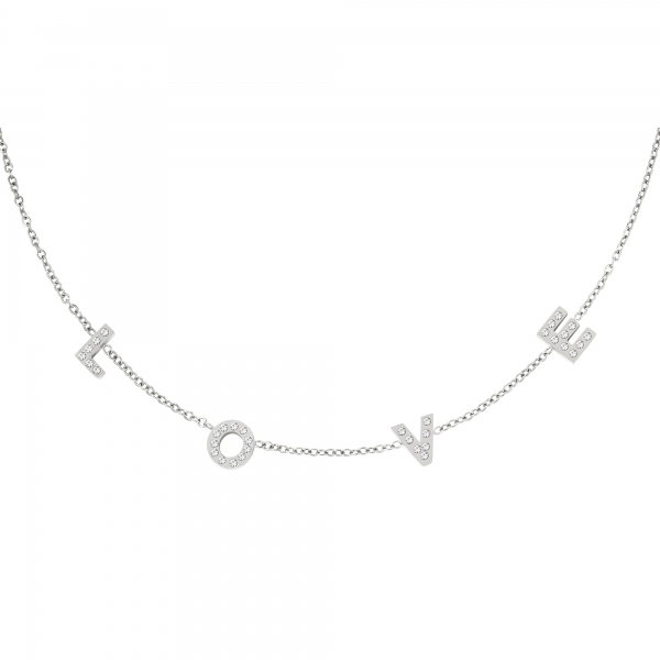 Stainless steel Necklace letters love