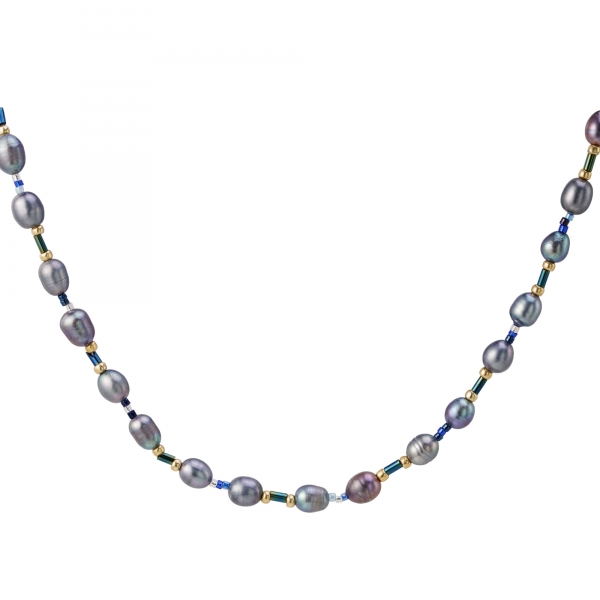 Necklace multi pearls