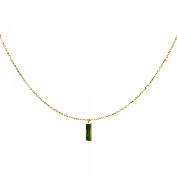 Green charm necklace