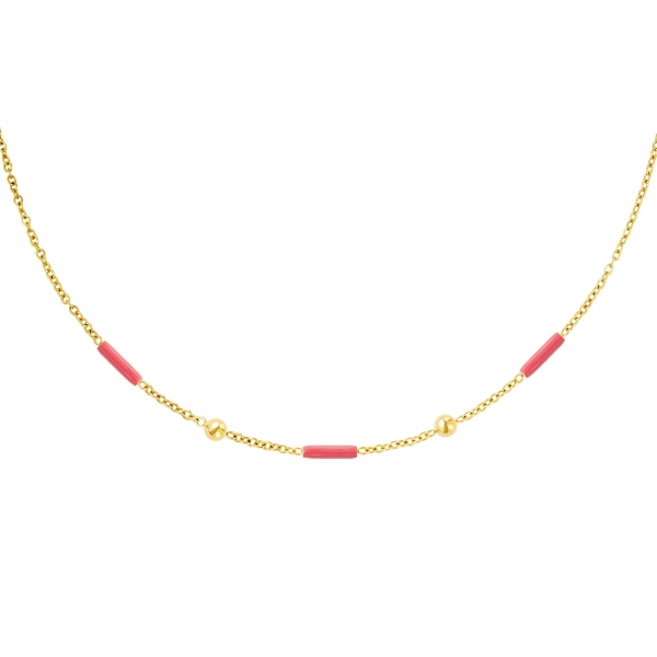 Stainless steel necklace with bars